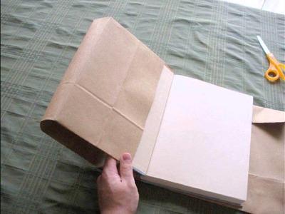 DIY PAPER BAG BOOK COVER