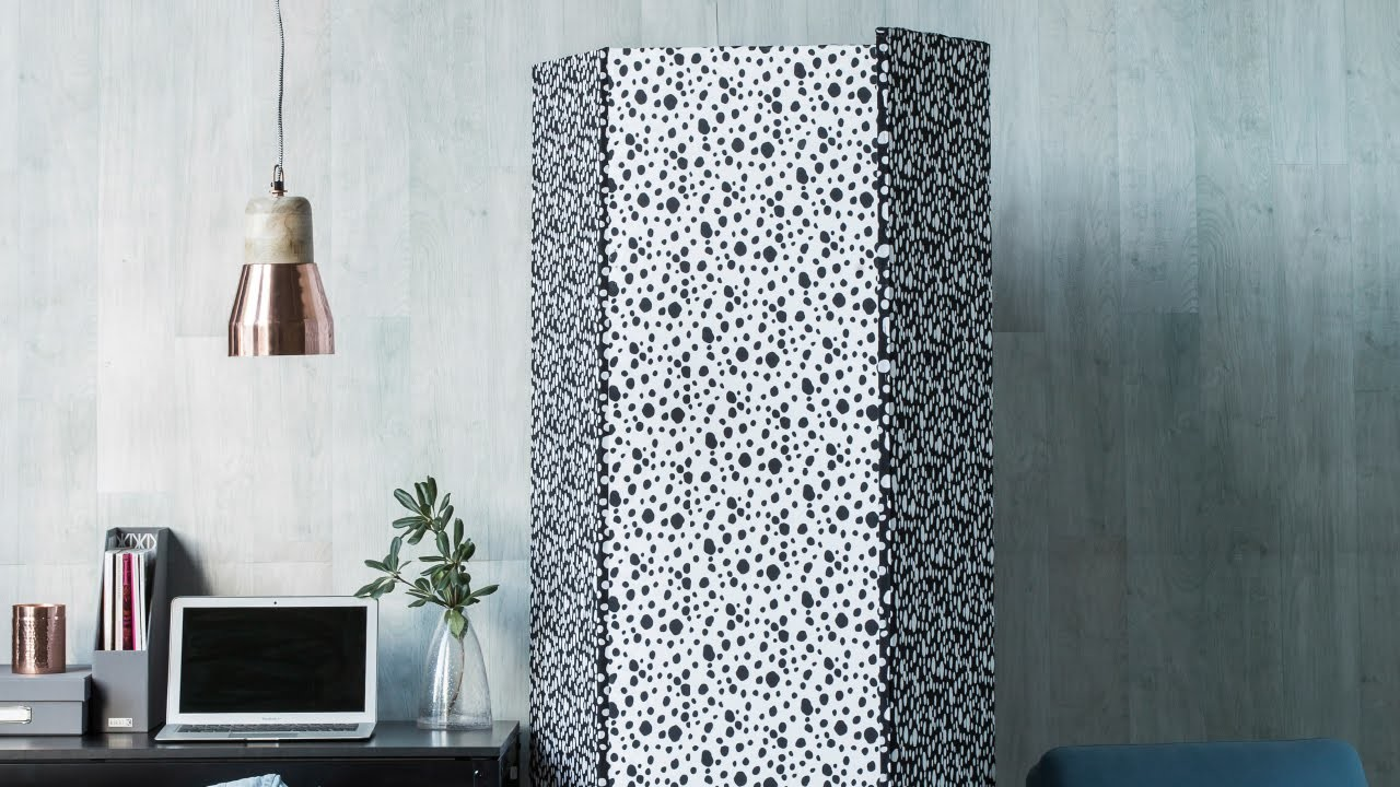 DIY PROJECT: Fabric-covered room divider - homes+