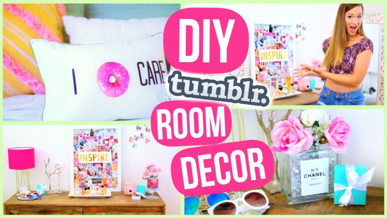 DIY Room Decor! Tumblr Inspired Room Decorations!