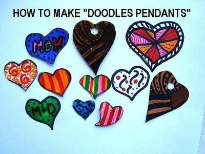 DOODLES PENDANTS, jewelry making, how to make pendants from doodles.