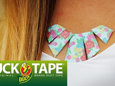 Duck Tape Crafts: How to Make a Geometric Necklace with LaurDIY