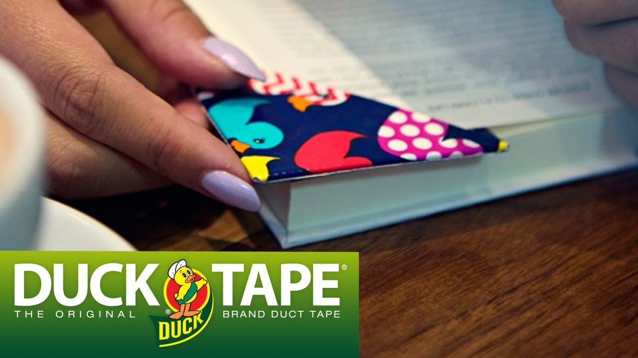 Duck Tape Crafts: How to Make a Corner Bookmark with LaurDIY