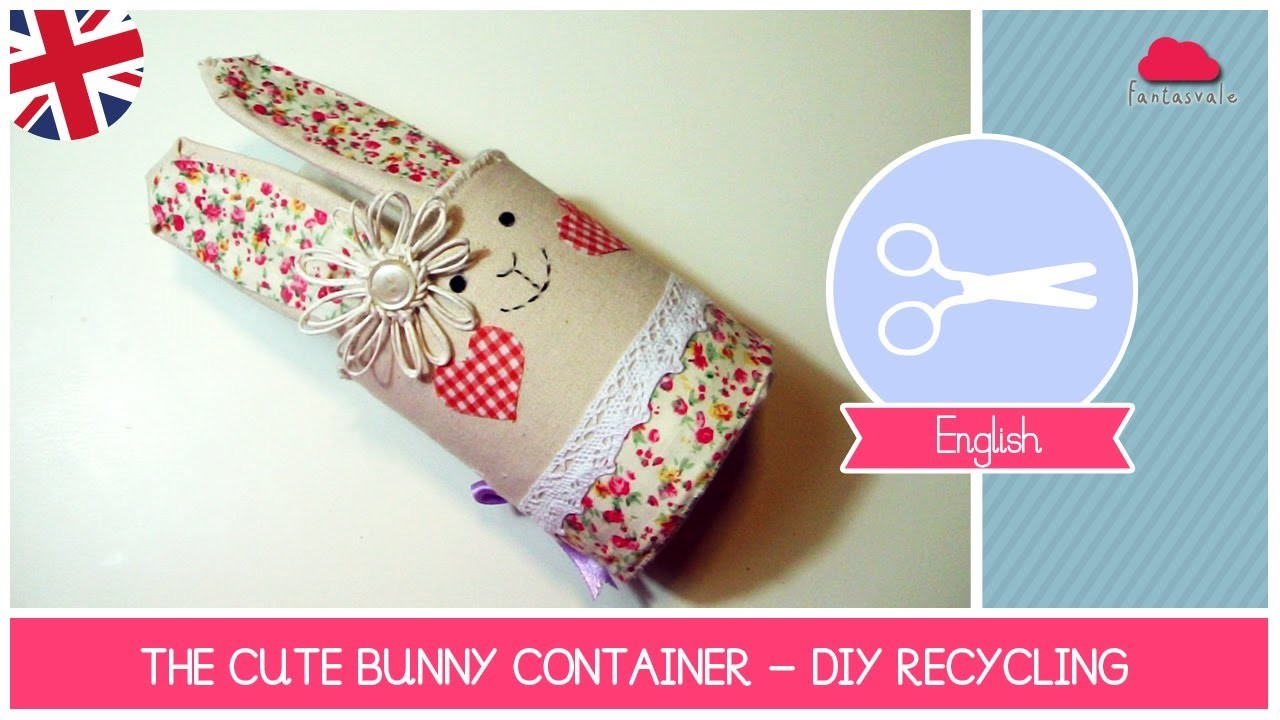 Easter DIY Ideas: The cute BUNNY CONTAINER: How to recycle a coffee container