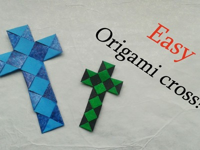 Easy Origami Paperstrip Cross (Tutorial)