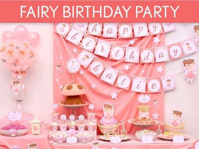 Fairy Birthday Party Ideas. Pink Fairy - B3