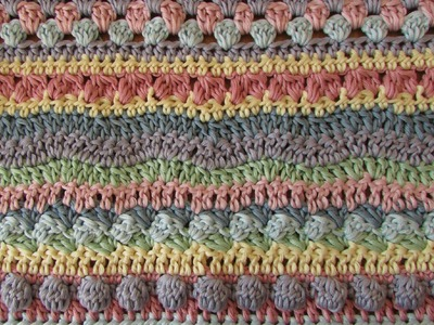 Fun striped crochet blanket tutorial - EASY crochet afghan. baby blanket. throw