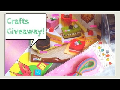 GIVEAWAY #2: Crafts- FREE GIVEAWAY - Origami Desserts, Origami Paper, Paper Strips, Ribbons,