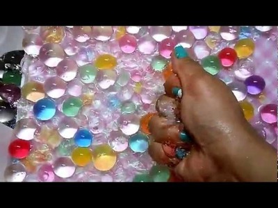 Hey!!. Watch this. Smashing and Crashing WATER BEADS.