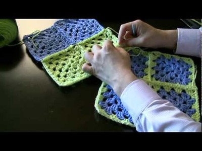 How To Attach Granny Squares - Method 3 - Sewing Together