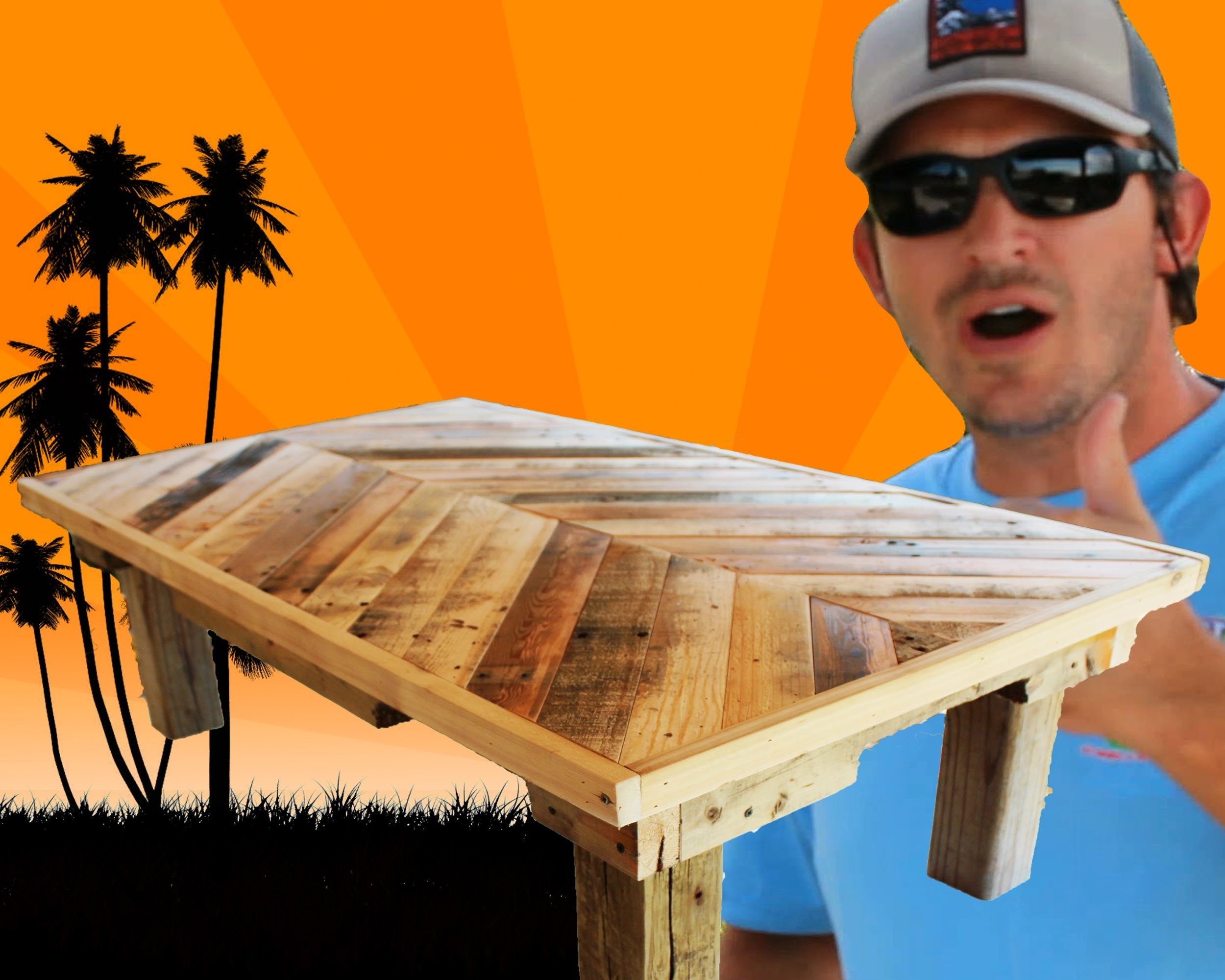 How to Build a Coffee Table out of Pallet Wood: Project 5 Paint.Distress.Antique Furniture