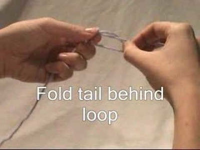 How to Knit - Cast on Knot - Audio and Text Instructions