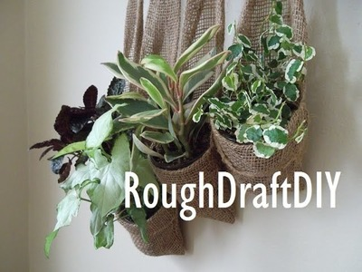 How to make a hanging garden. How to make a vertical garden -- by RoughDraft DIY