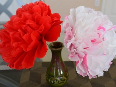 How To: Simple And Cute Flowers Using Tissue Paper. (DIY)