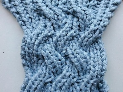 Knit with eliZZZa * Knitting Stitch * Fake Entrelac reversible
