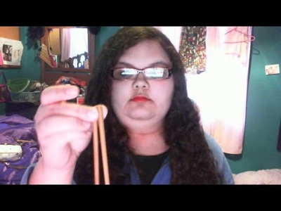 Knitting with chopsticks 1