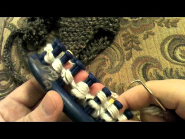 Loom Knit: Earflaps Part 2 Join Earflaps to hat