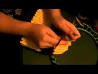 Minion Loom Knit Hat Part 5
