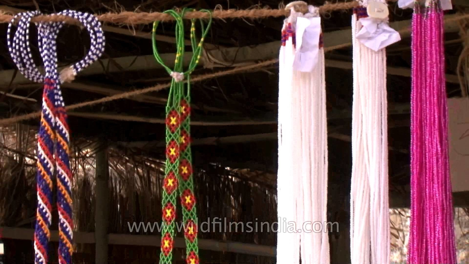 Necklace made out of beads showcased during the Hornbill festival in Nagaland