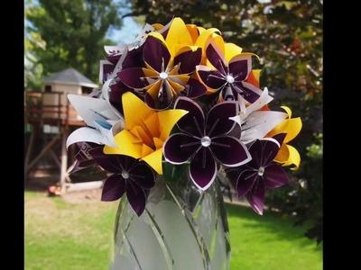 Origami Kusudama Flowers # 002 (using recycled paper)