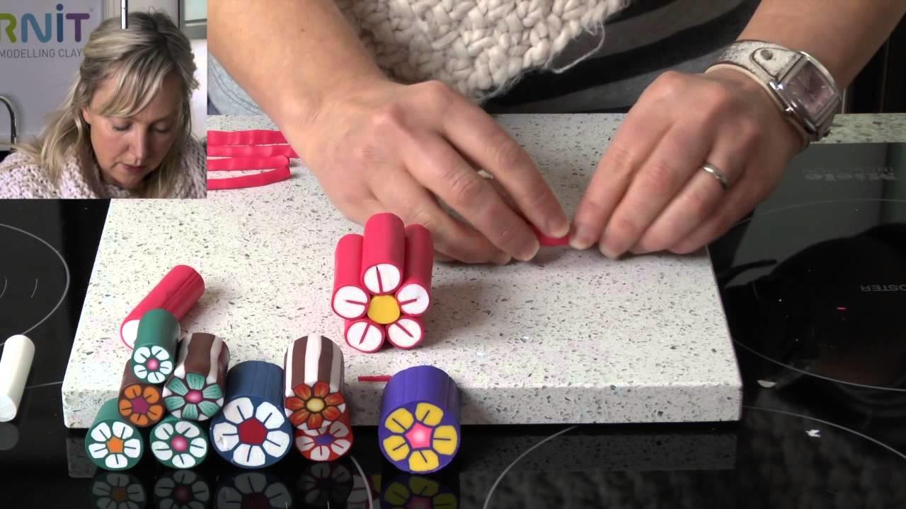 Polymer Clay Tutorials - How to make a flower cane