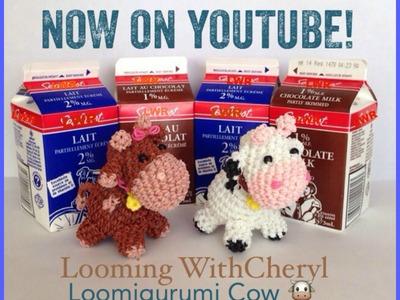 Rainbow Loom COW - Loomigurumi - Looming WithCheryl