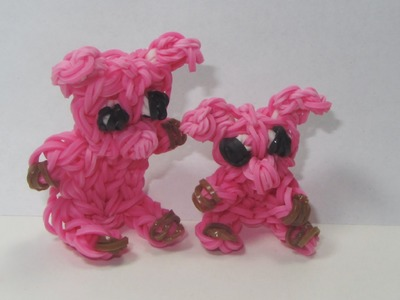 Rainbow Loom: Pig. Piglet Charm (DIY Mommy Animals)