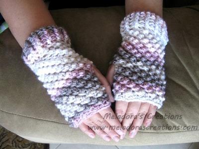 Raspberry Stitch Finger Less gloves Tutorial - Left Handed