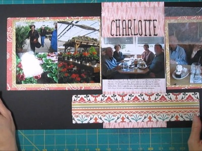 Scrapbook Process 2 Page layout with a large mat