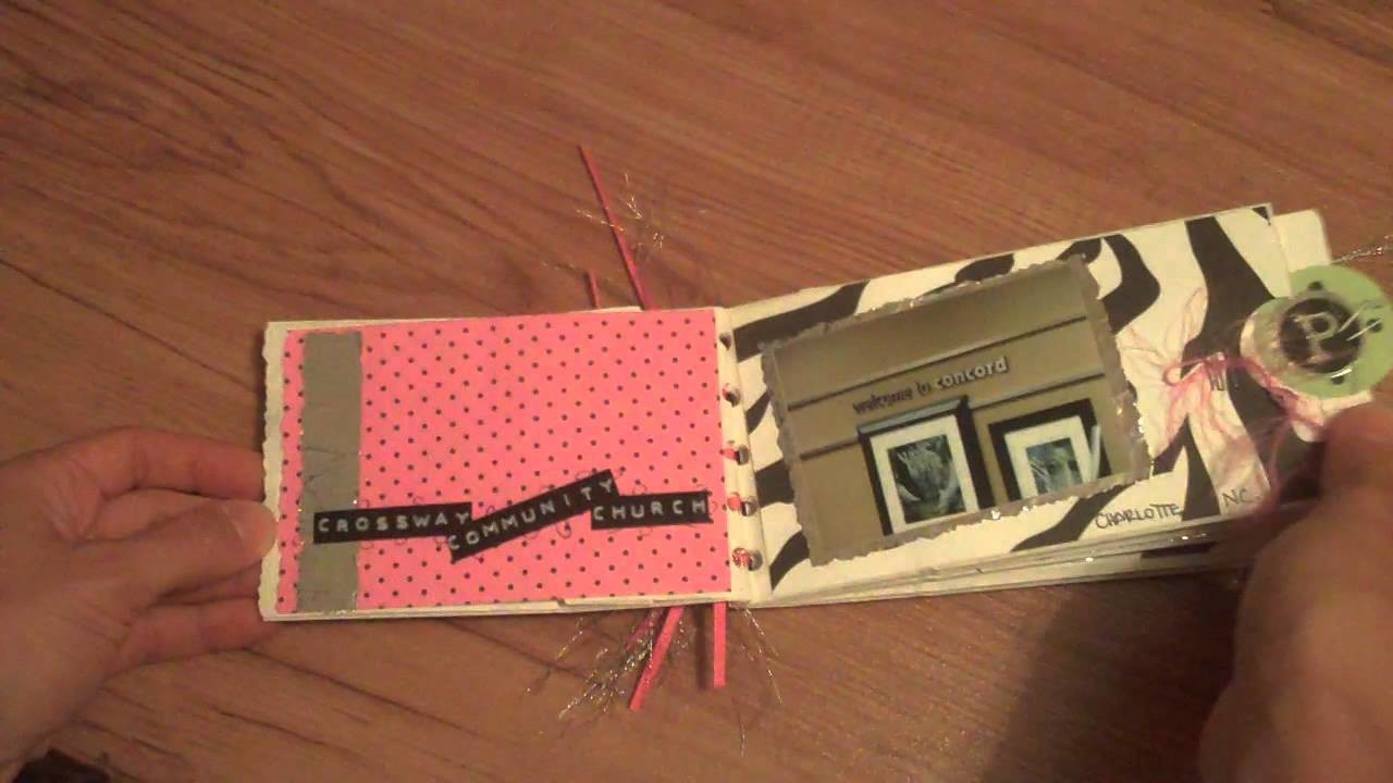 Scrapbook Tutorial - using aluminum foil on your layouts and mini albums - Bling!