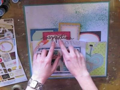 Scrapbooking Children's Art: Lesson 2