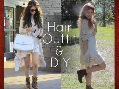 Selena Gomez Boho Hair & Outfit + DIY Flower Crown | Style Steal