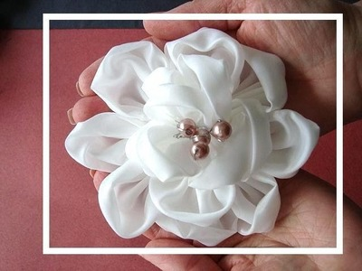 Silky bridal flower, number 2,  how to diy fabric flower, prom, wedding, special occasion