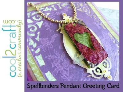 Spellbinders Pendant Greeting Card by Lisa Fulmer - DIY craft