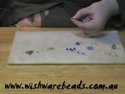 Swarovski Ball Earrings @Wishware Beading Classes Part 1.2