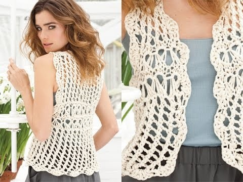 #18 Vest, Vogue Knitting Spring.Summer 2010