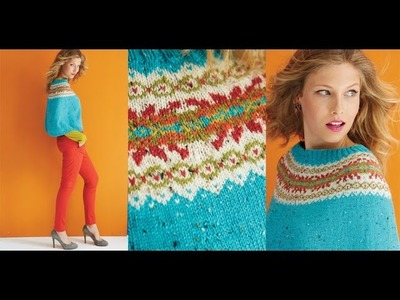 #22 Fair Isle Poncho, Vogue Knitting Holiday 2014