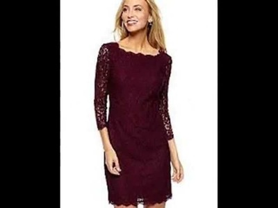Adrianna Papell - Women's Long Sleeve Lace Dress