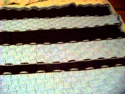 "Basket weave crochet blanket part 2 "" the finished product"""
