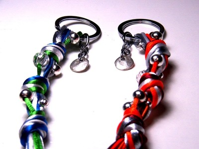 Beading Ideas - Keychain mixing cords and beads