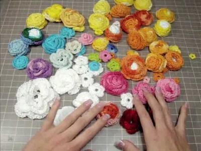 Beautiful Crochet Flowers Gift from (Esterlyn275)