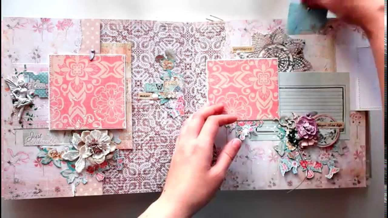 Big scrapbook album for a little girl