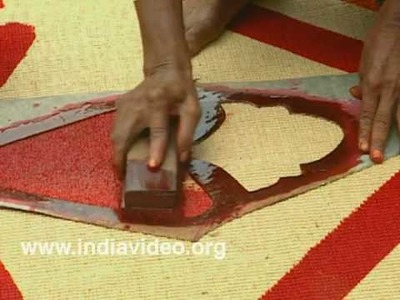 Coir making, coir mat, coconut fibre mat, coloring, craft, hand made, traditional manufacturing