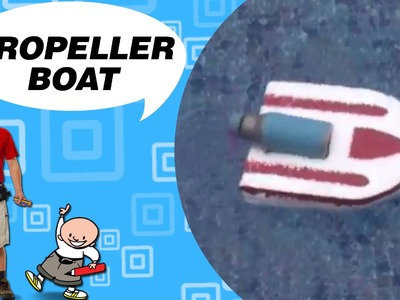 Crafts Ideas for Kids - Propeller Boat | DIY on BoxYourSelf