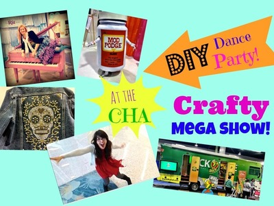 Crafty Dance Party (a peek inside the craft mega show) and Rit dye giveaway winner announced!