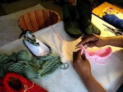 Crochet Along Slipper Sole 8-9 pt 4