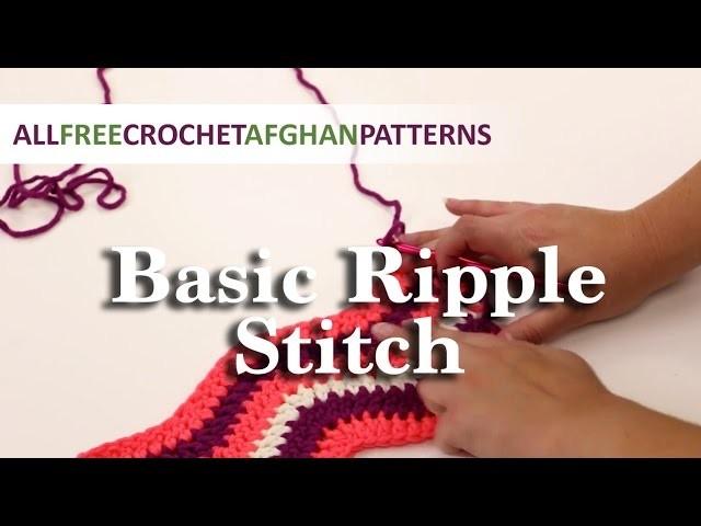Crochet Basic Ripple Stitch Tutorial