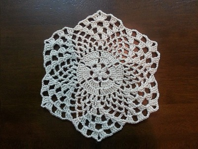 Crochet Beautiful Mini Doily - Pineapples Pattern - Part 2