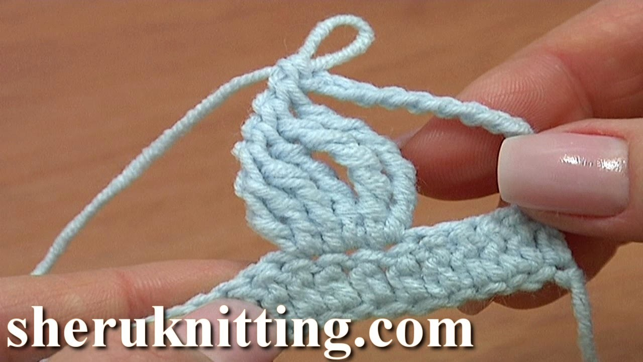 Crochet Complex Stitch Made Of Tall Stitches Tutorial 19 Crochet Basics For Beginners