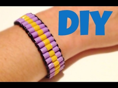 DIY bracciale con elastici e hama beads