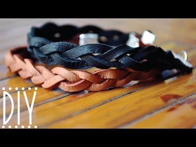 DIY Braided Leather Bracelet
